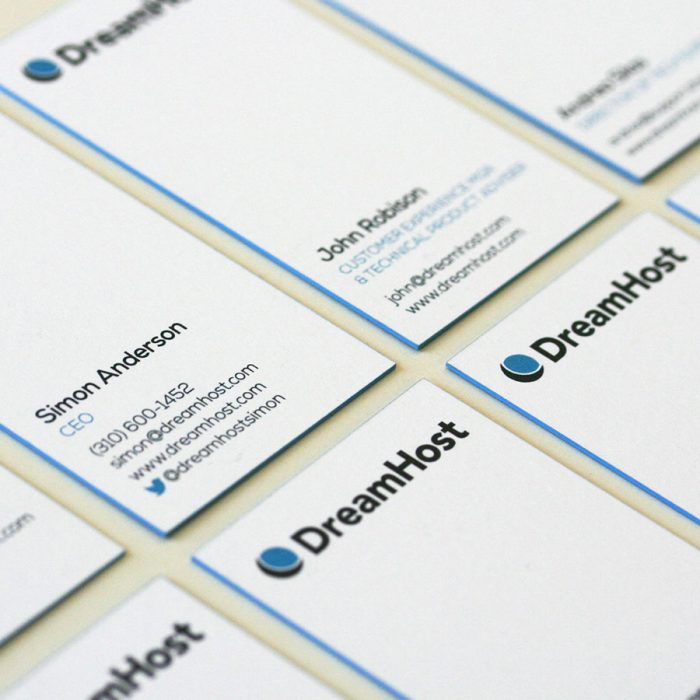 Thick Colored Edge Business Cards - ReachMiami
