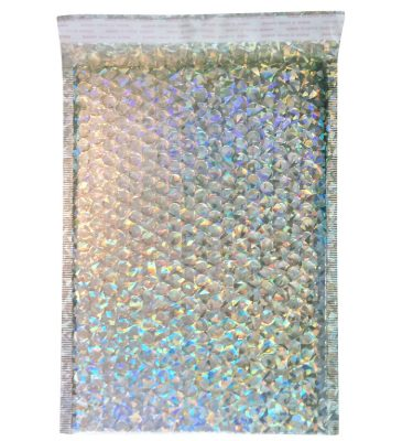 Holographic Mailer bubble wrap padded by ReachMiami